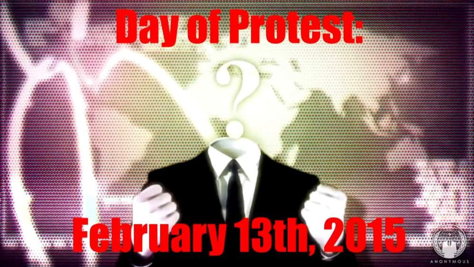 Anonymous hacking group protest day