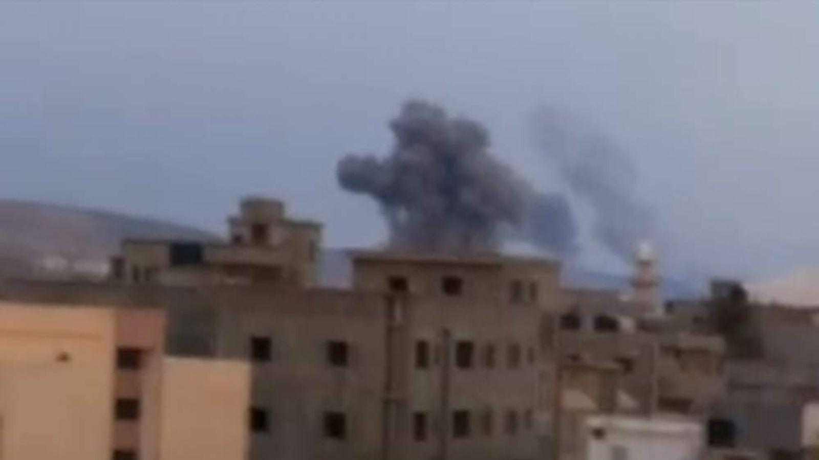 omb strikes on IS targets in Derna Libya by Egypt warplanes