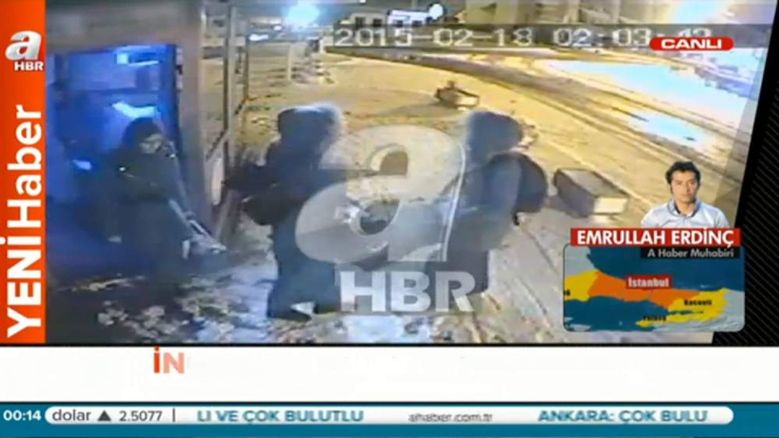 CCTV which appears to show the missing schoolgirls in Turkey.