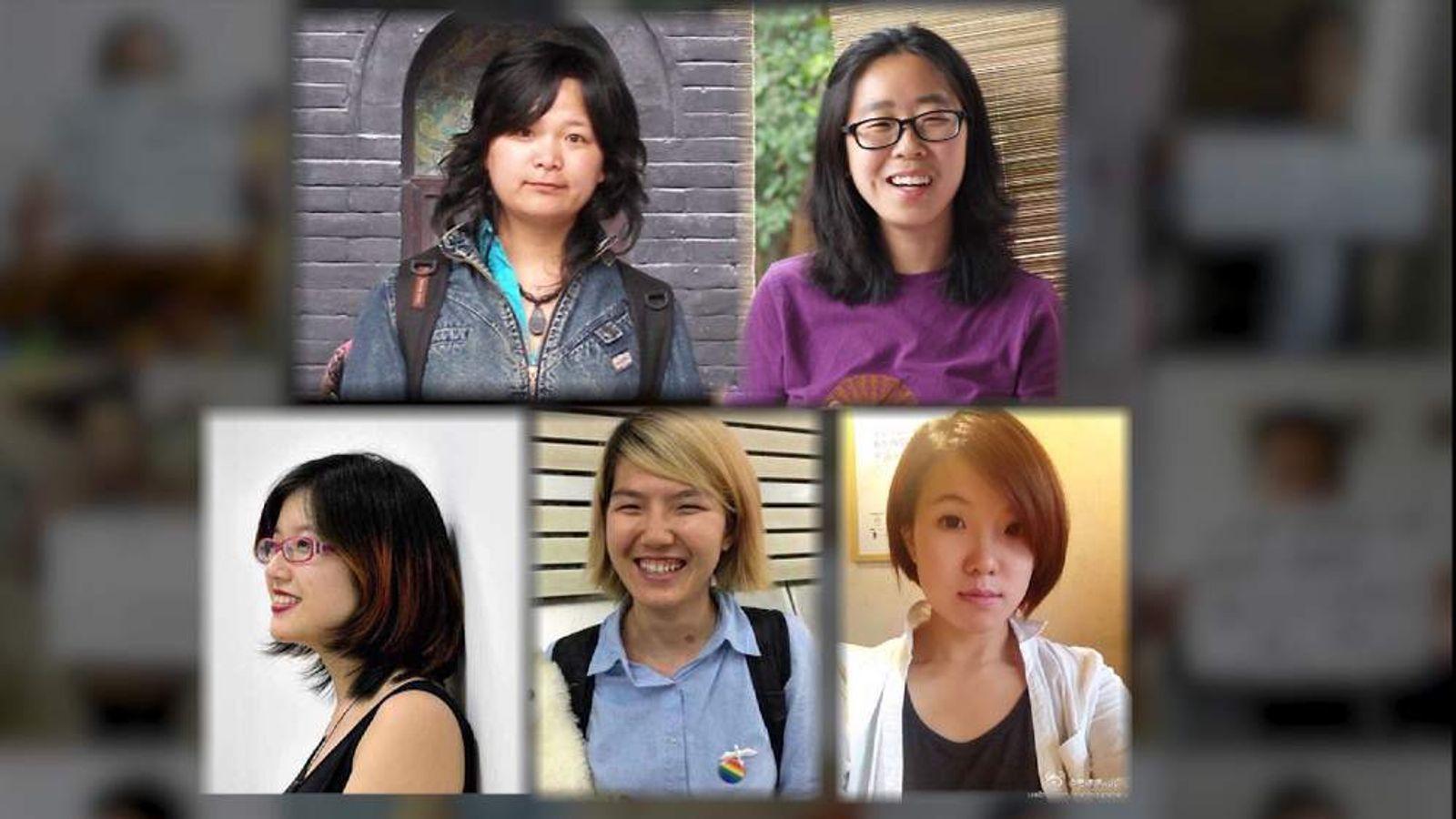 Zheng Churan, Li Tingting, both 25, Wei Tingting, 27, Wu Rongrong, 30 and Wang Man 32.