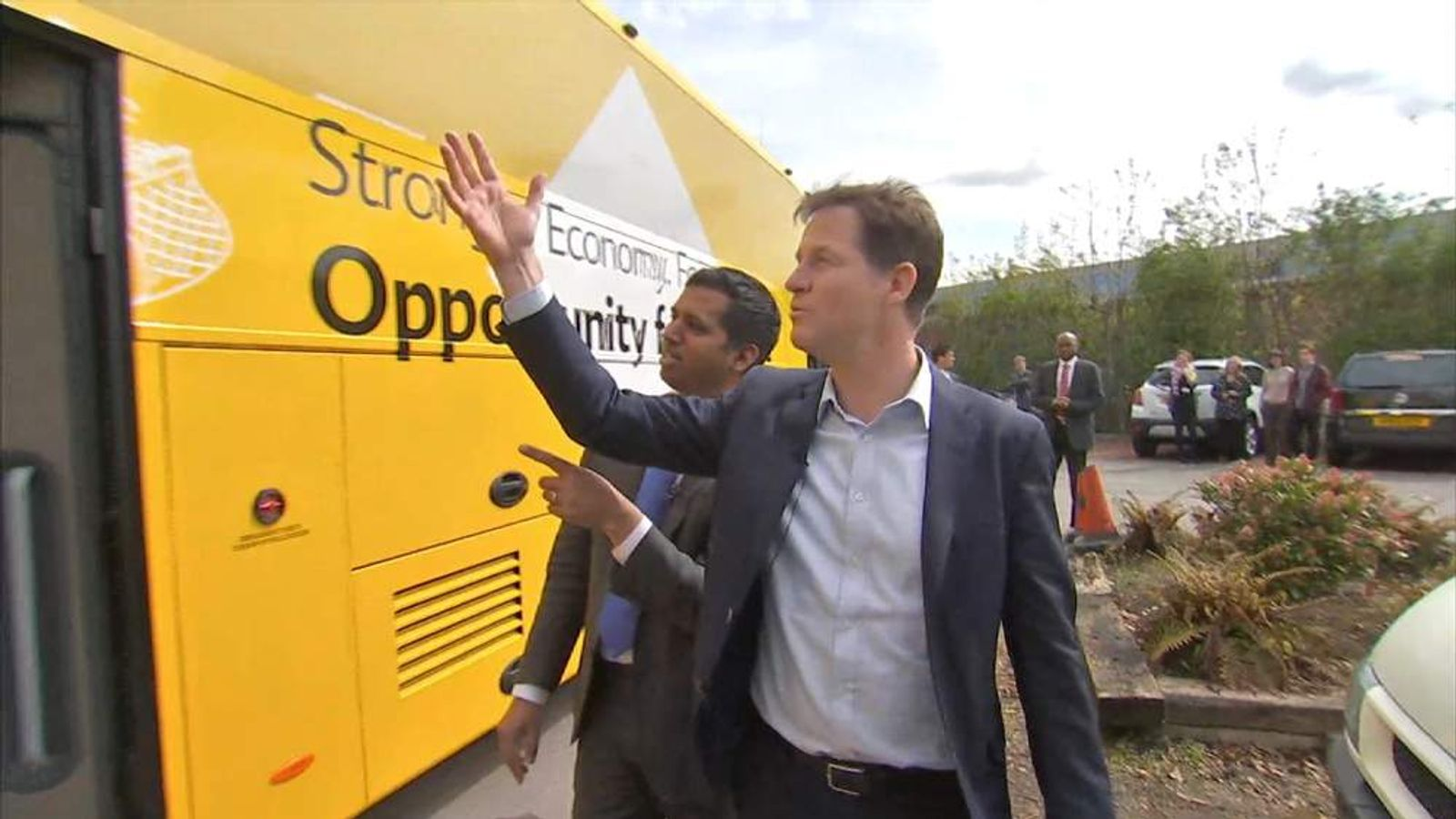 Clegg And The Lib Dem Bus