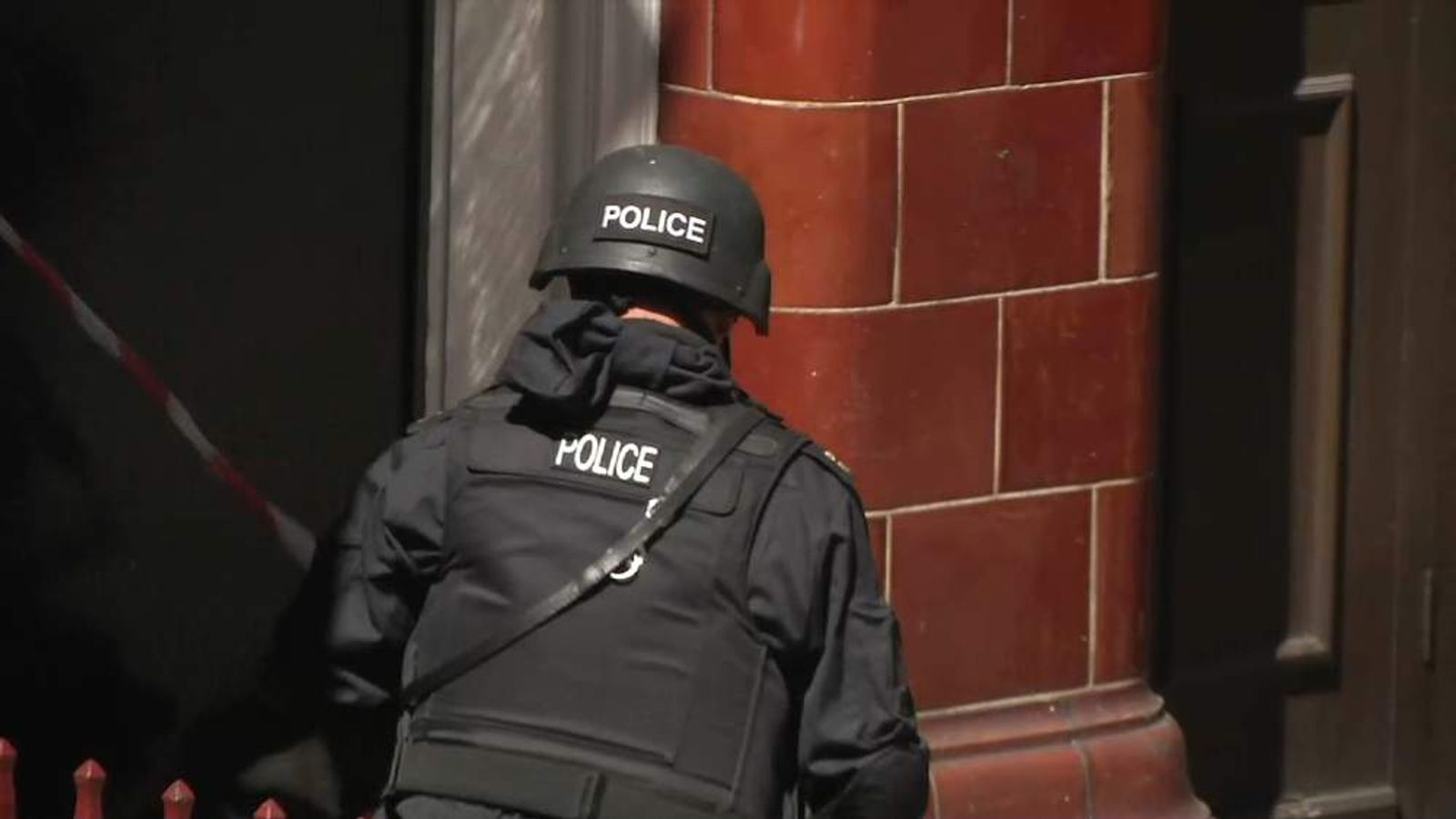 Police anon at today's police simulated terror attack