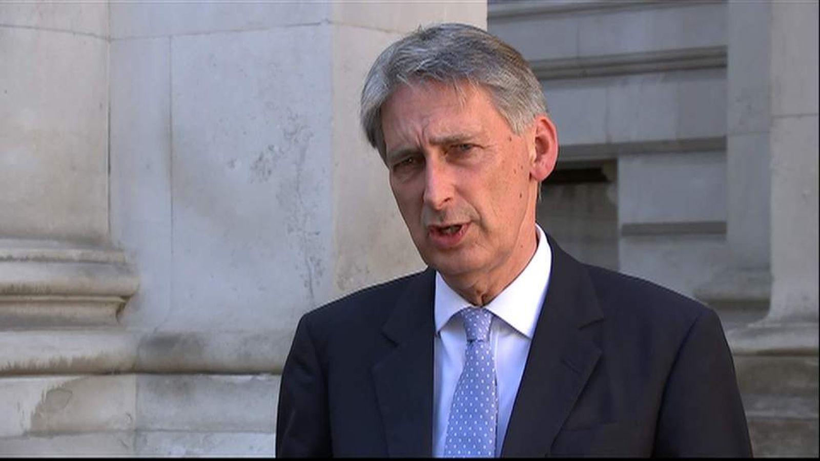 300615 Foreign Secretary Philip Hammond screengrab