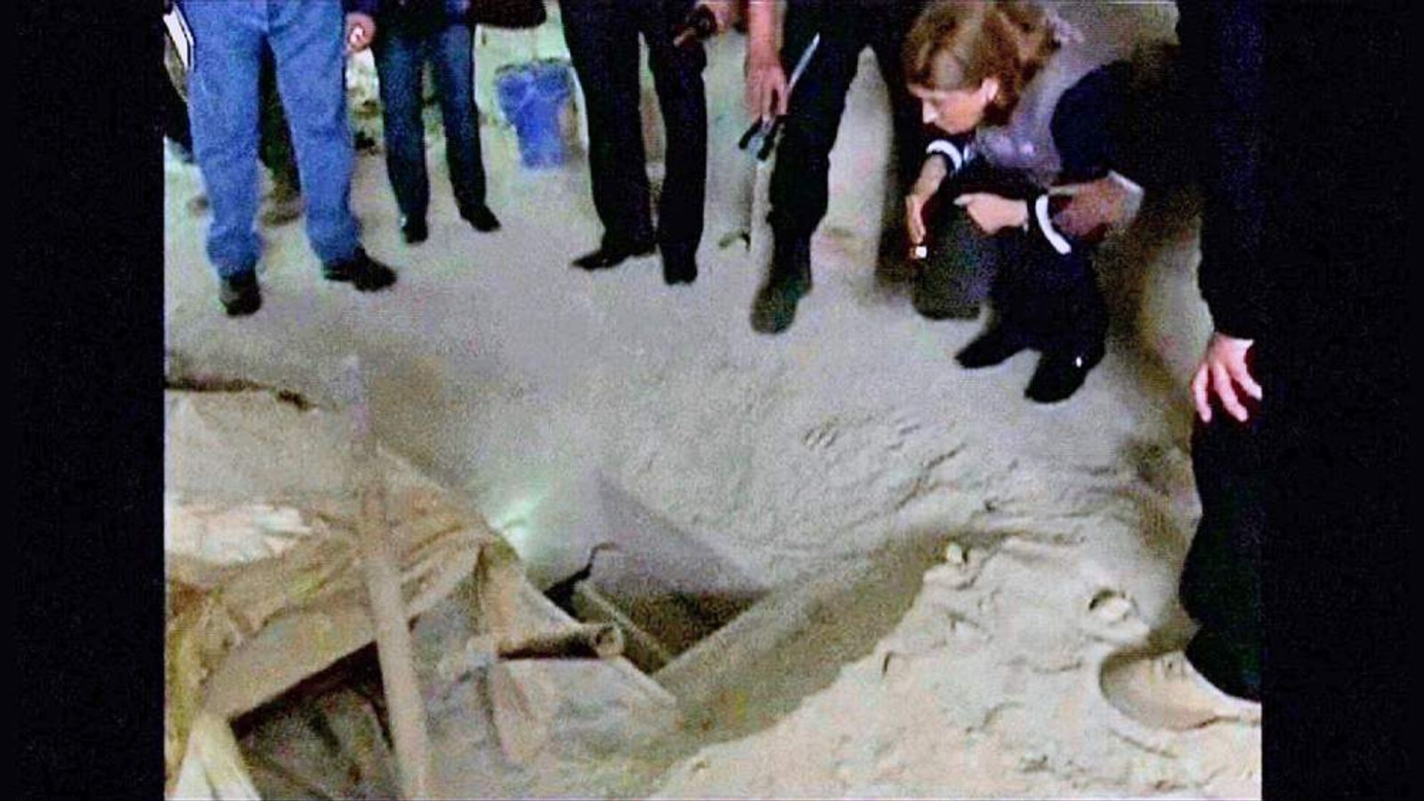 "The tunnel used by Joaquin ""El Chapo"" Guzman to escape from prison."