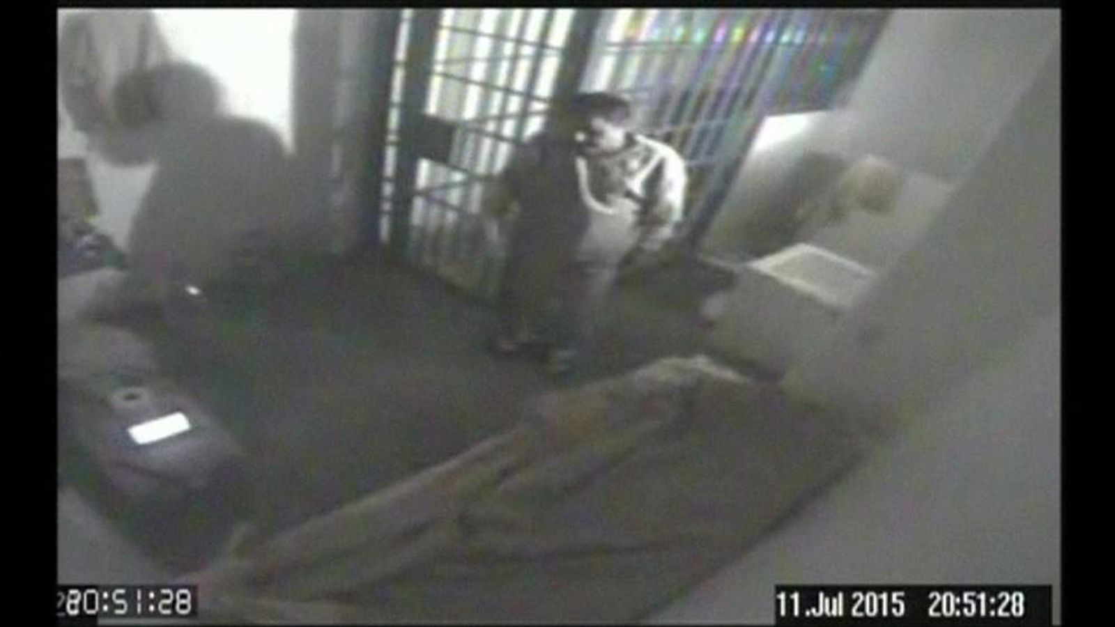 "CCTV of Joaquin ""El Chapo"" Guzman's cell at the Altiplano maximum security prison"