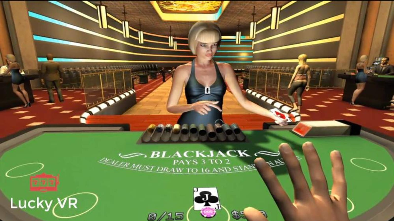 Virtual blackjack table - Lucky Vr Virtual Casino Screengrab