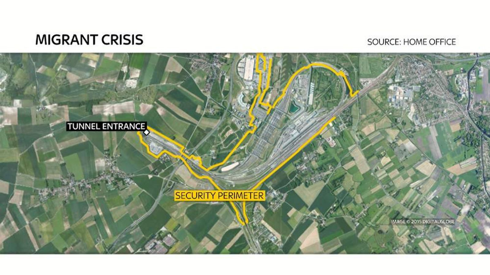 NEW SECURITY MEASURES IN CALAIS MAP