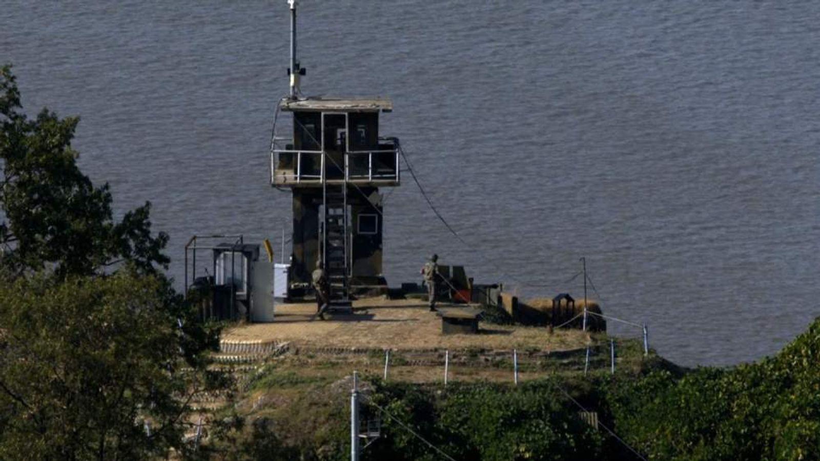 border outpost North Korea