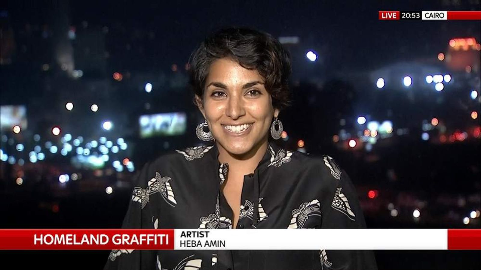Artist Heba Amin explains why she criticised the show through on-set graffiti