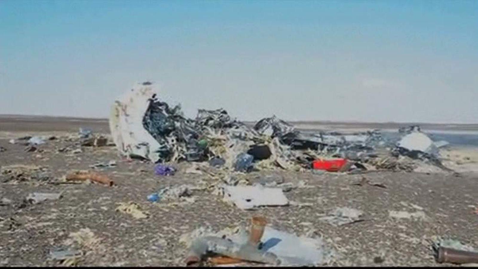 Metrojet crash wreckage