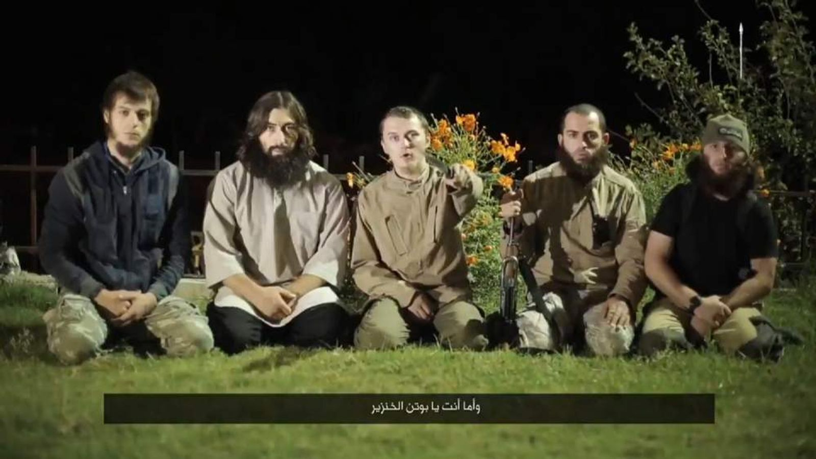 Islamic State IS video with Russian speaker