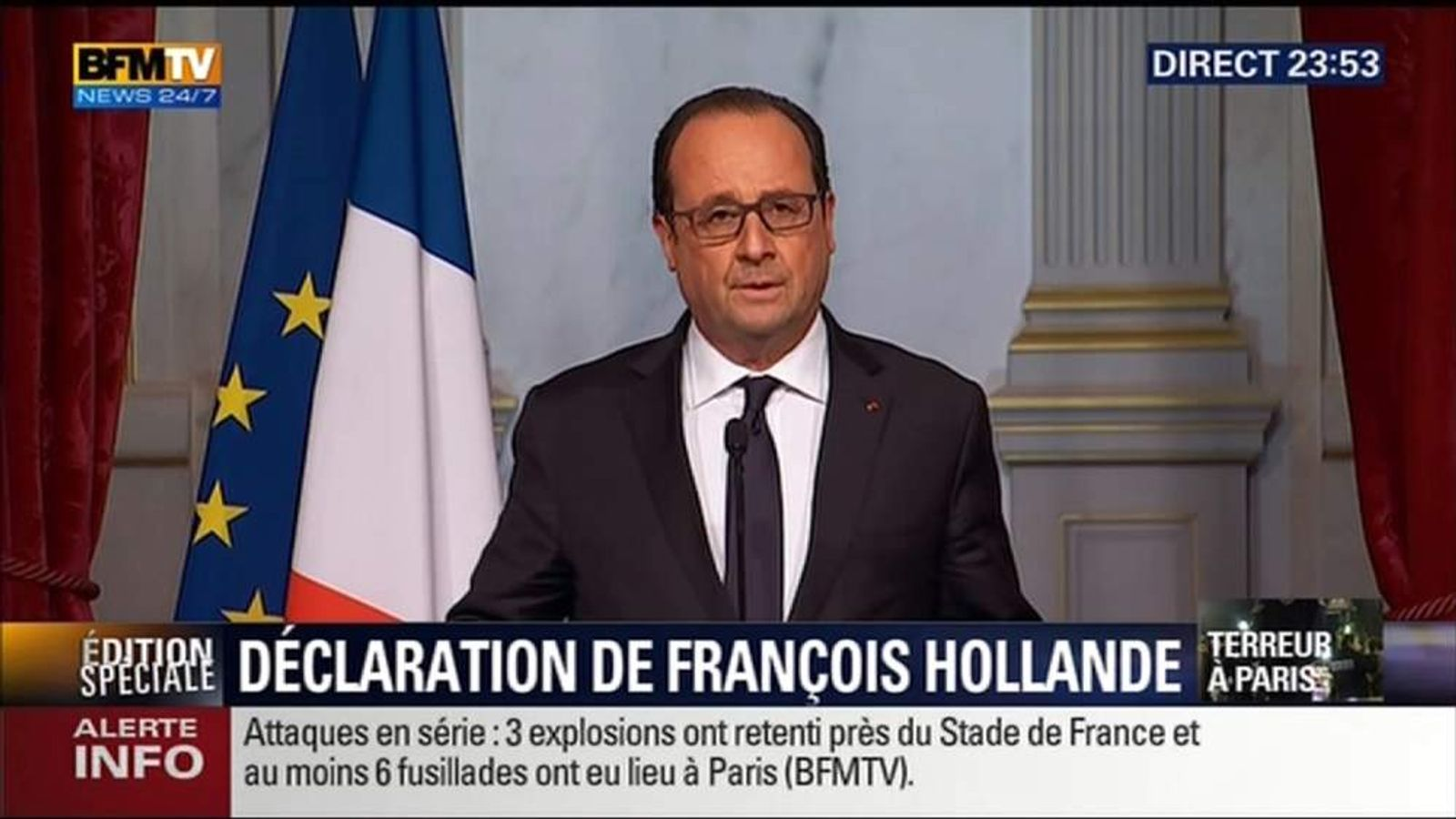 Paris Attacks President Hollande