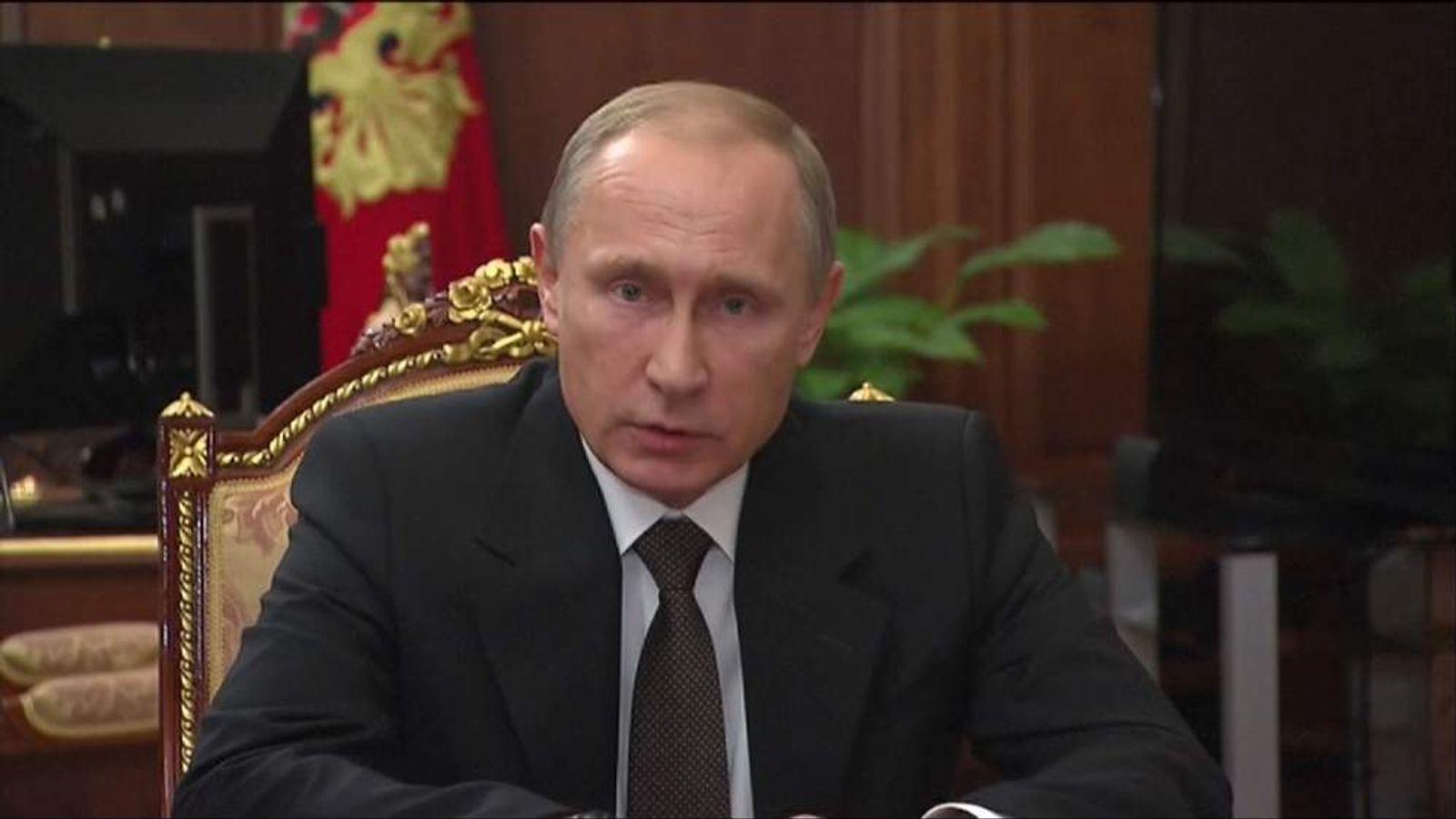 Russian President Vladimir Putin talks about Sinai plane bombing