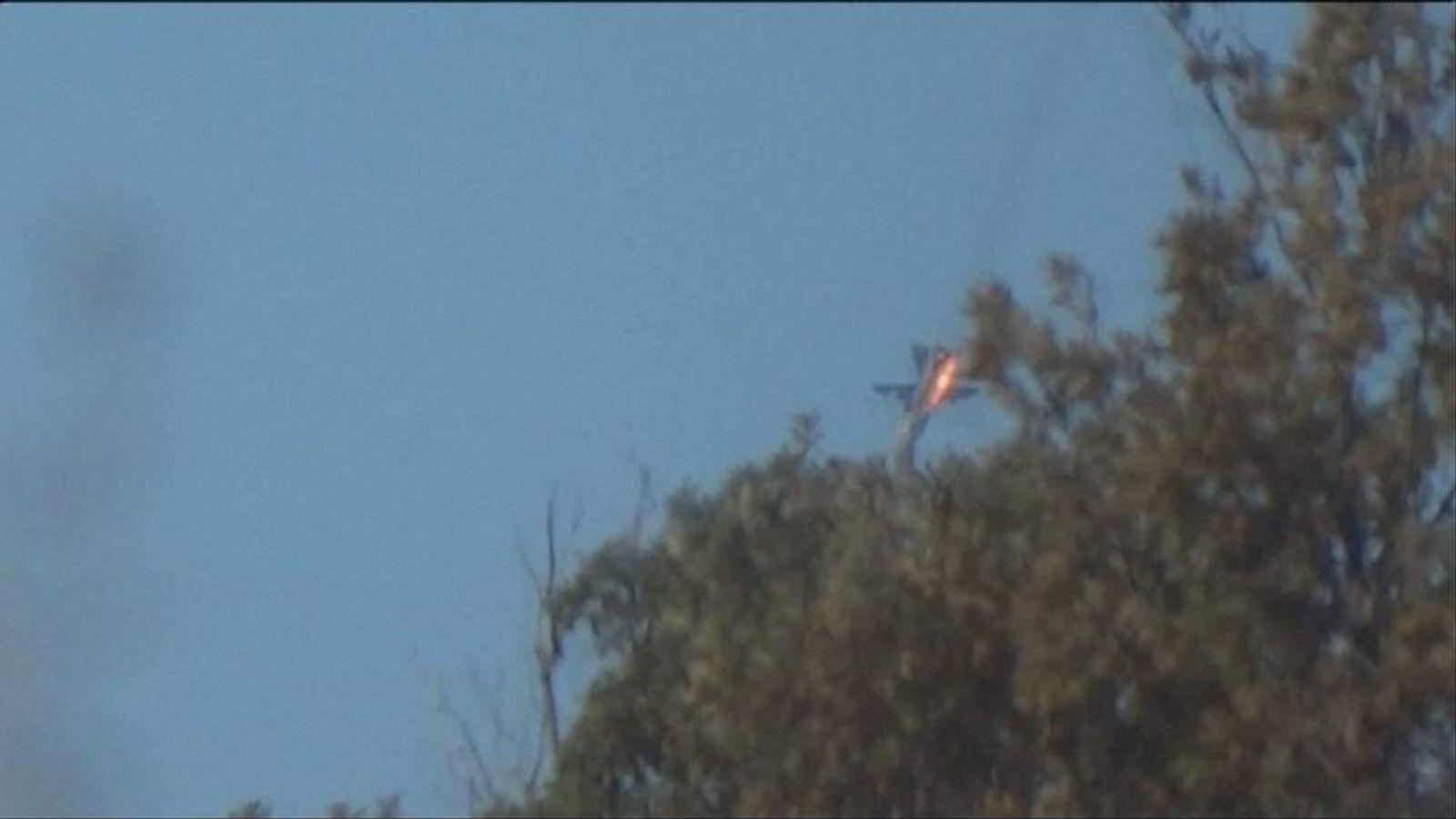 Russia Su-24 jet shot down by Turkey F-16 fighters near Syria border