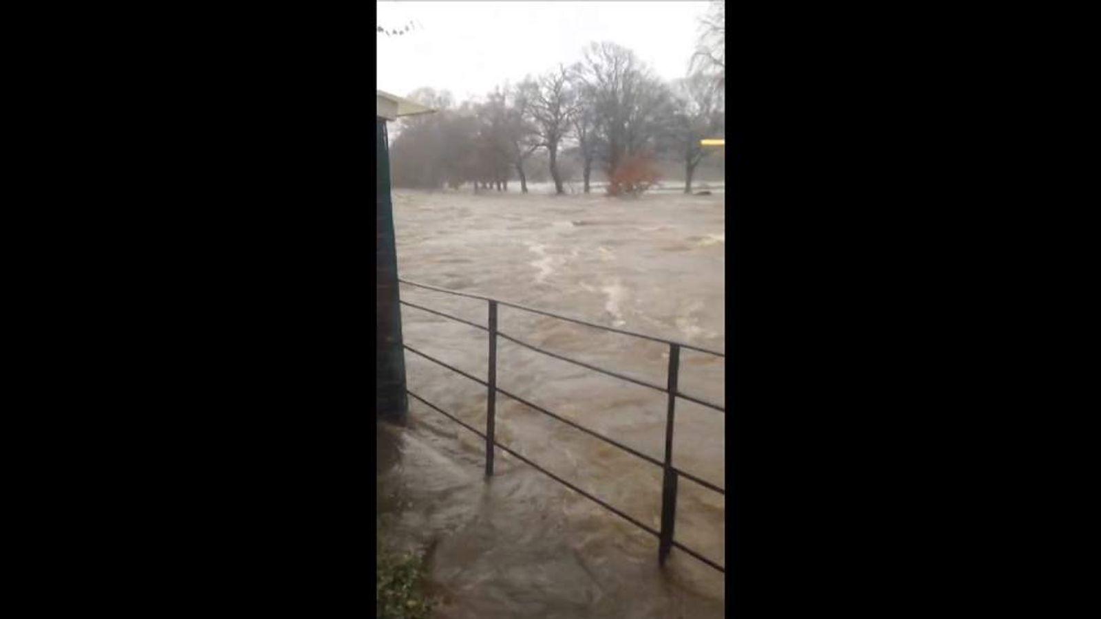 Flooding in Keswick, Cumbria. Pic: Wayne Turner/Twitter