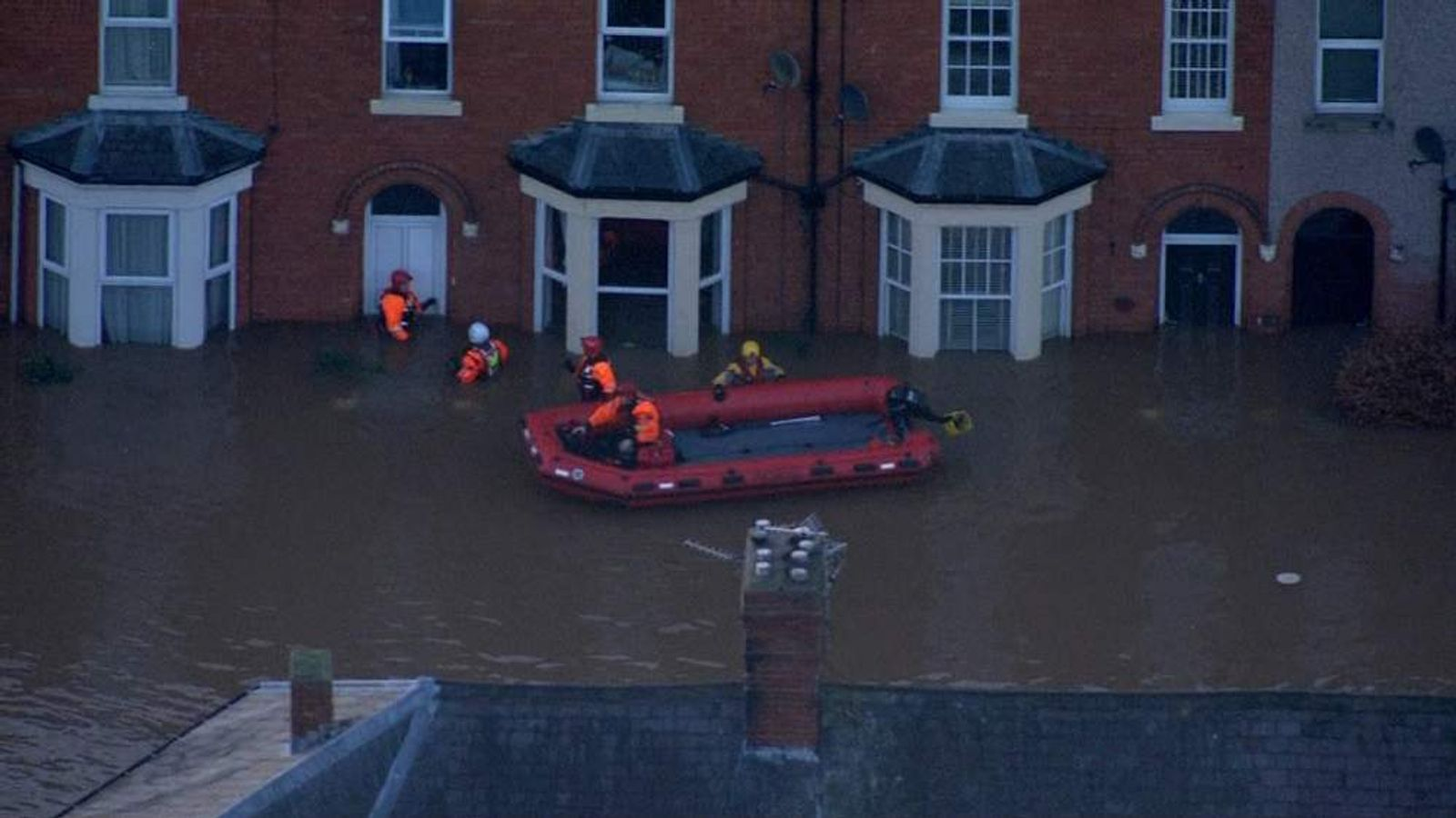 Cumbria Flooding Aerial Shots
