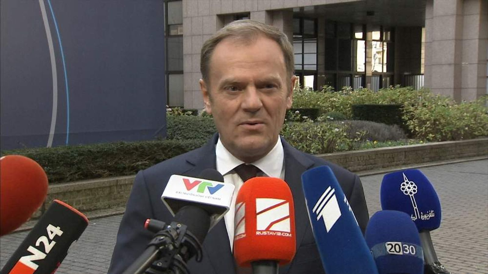 European Council President Donald Tusk talking about EU reform