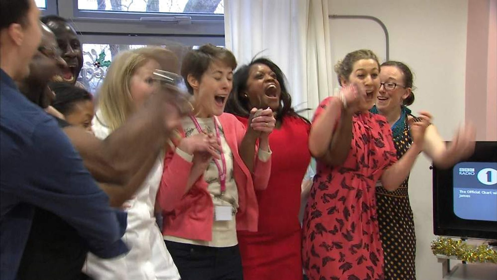 NHS choir hear they are the Christmas Number one