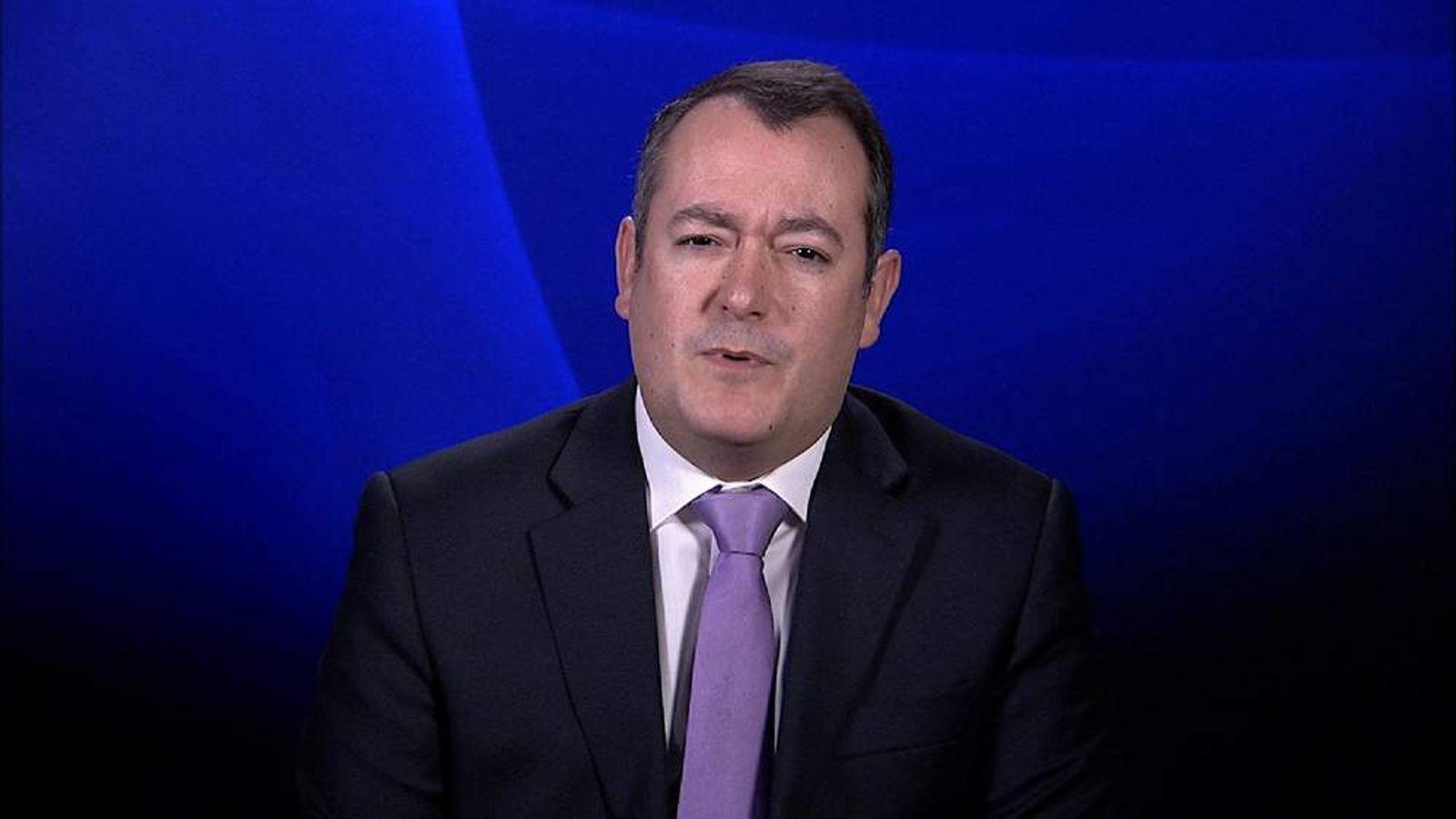 Former shadow culture secretary Michael Dugher talking to Sky News