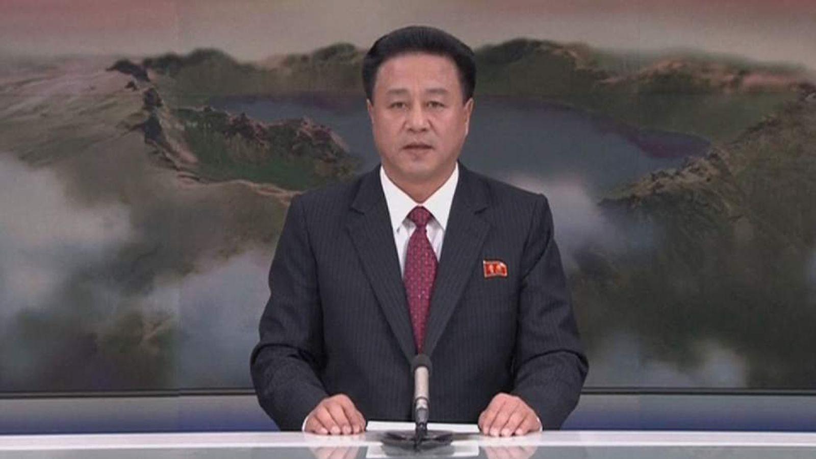 North Korea state TV Announces Hydrogen bomb test