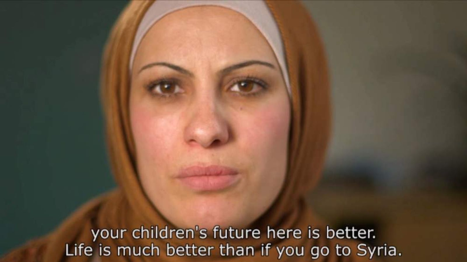 Syrian women tell their fellow countrymen that life in the UK is better than life in Syria