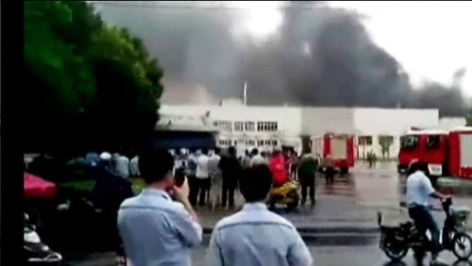 China factory blast