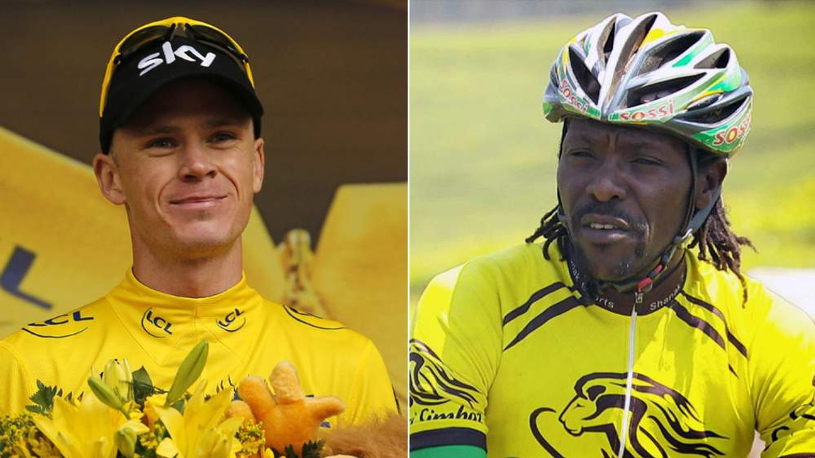 Chris Froome and his Kenyan mentor David Kinjah