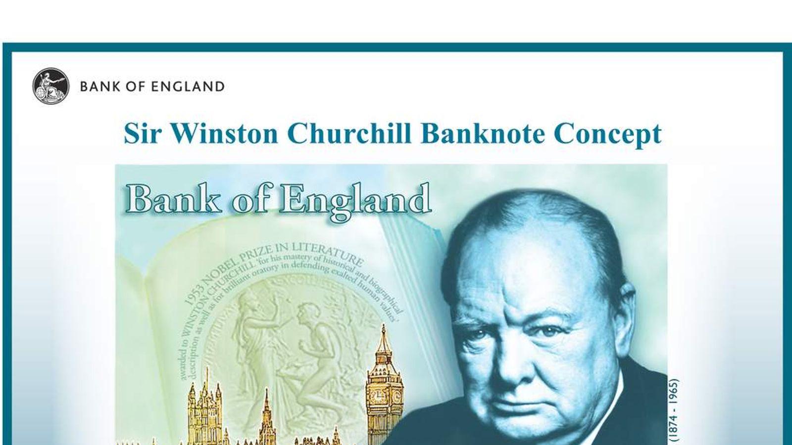 Concept design of new Churchill banknote