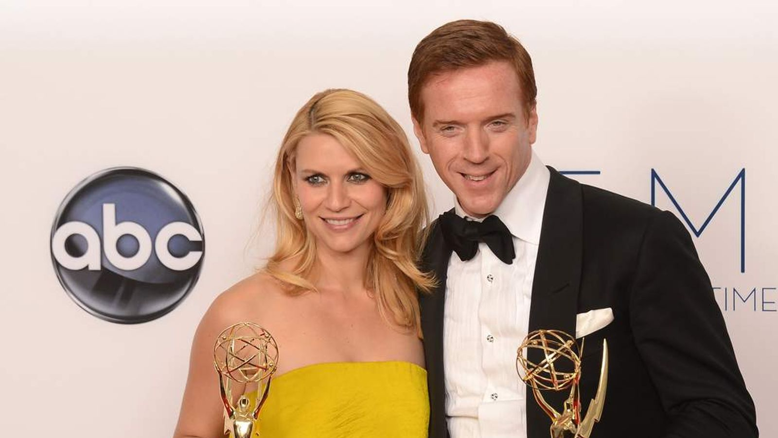 Claire Danes and Damian Lewis with their Emmys