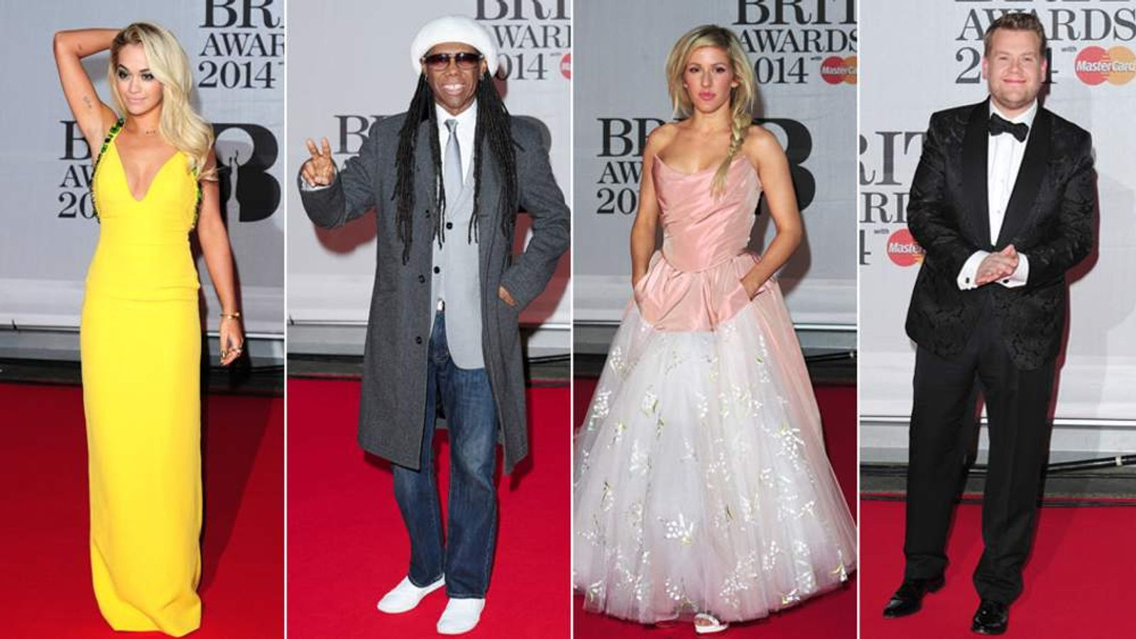 Rita Ora, Nile Rodgers, Ellie Goulding and James Corden