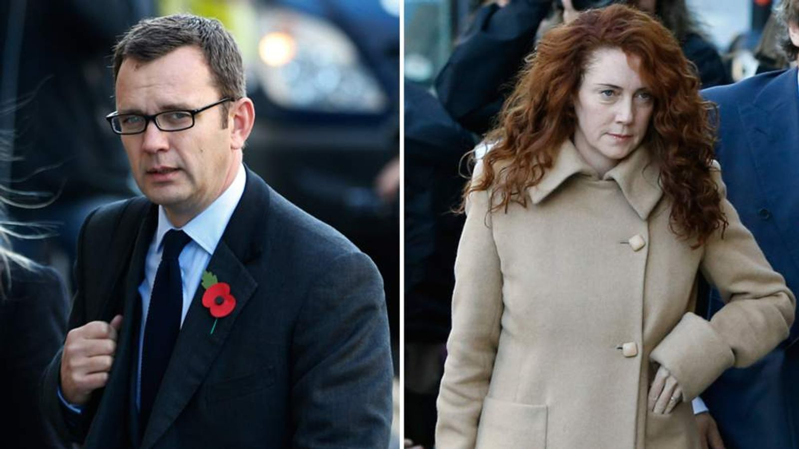 Andy Coulson and Rebekah Brooks