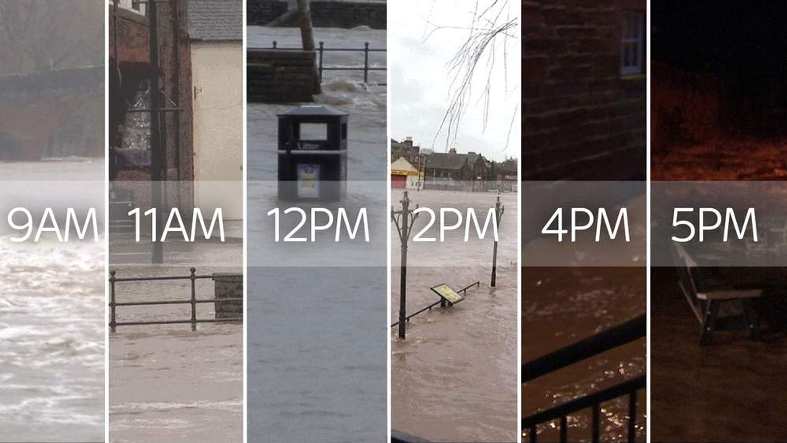 Here's how the water level rose in one town, in one day