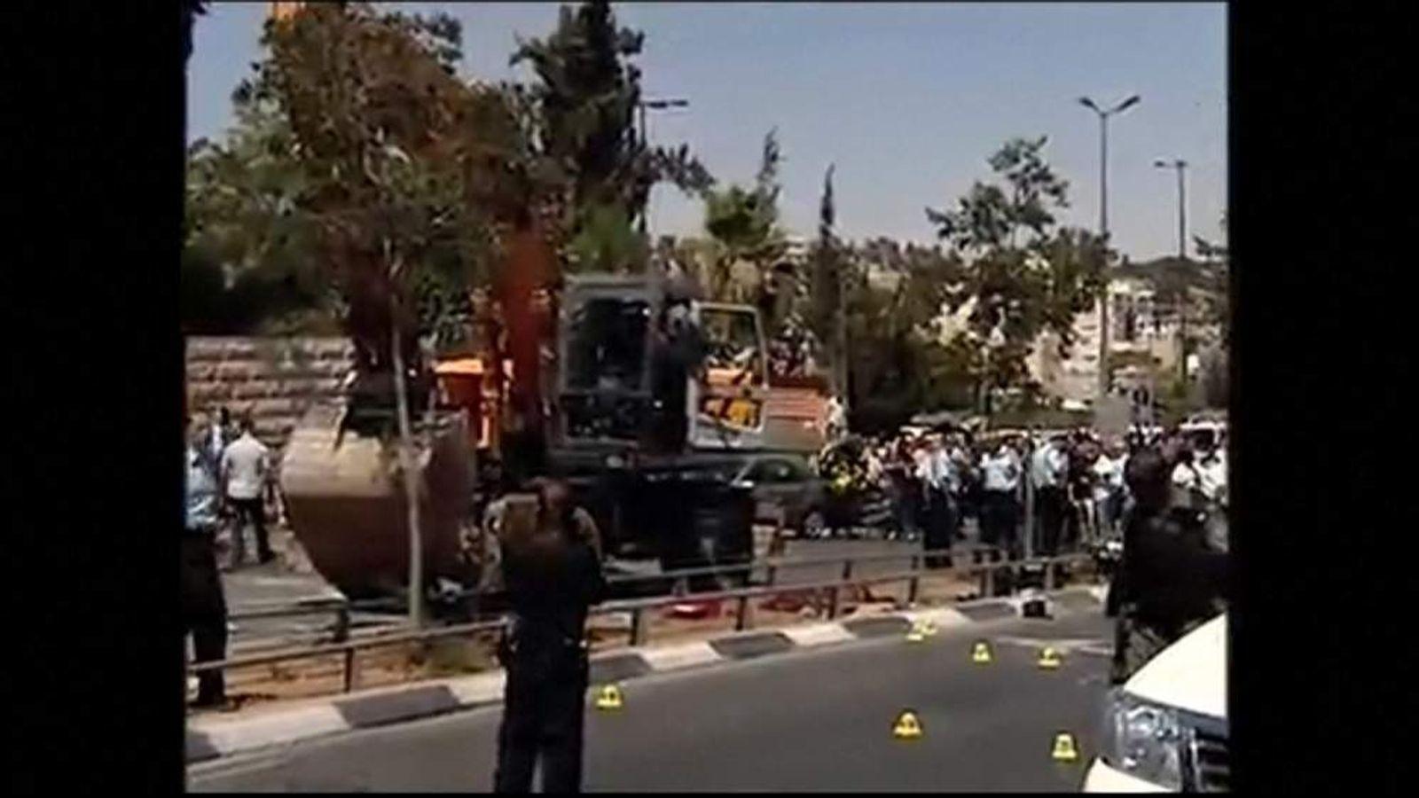 Digger involved in suspected 'terror attack' in Jerusalem