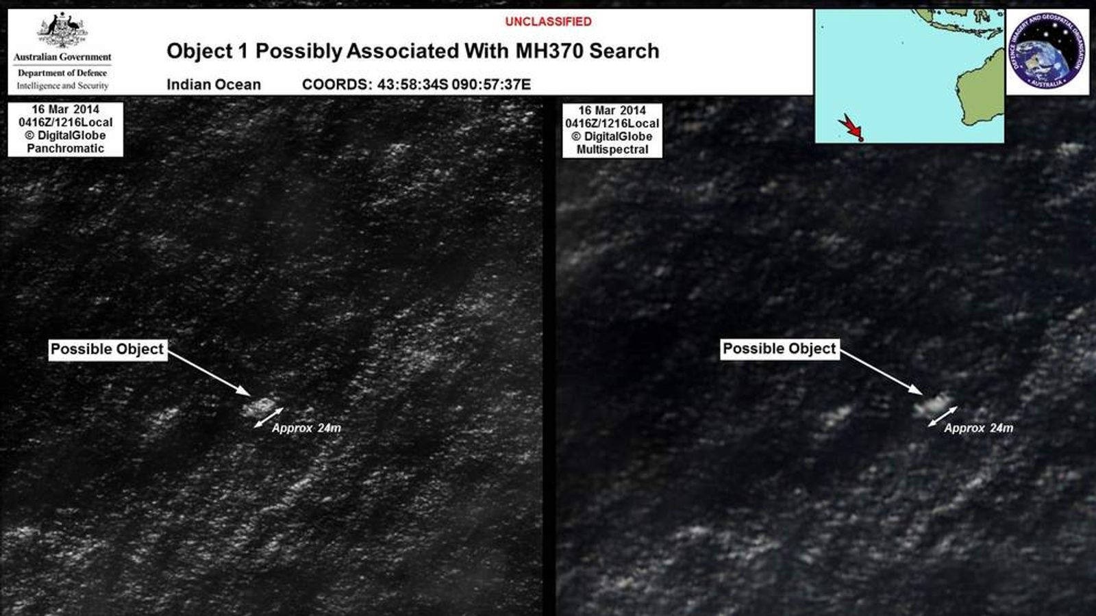 Possible debris from the missing Malaysia Airlines plane