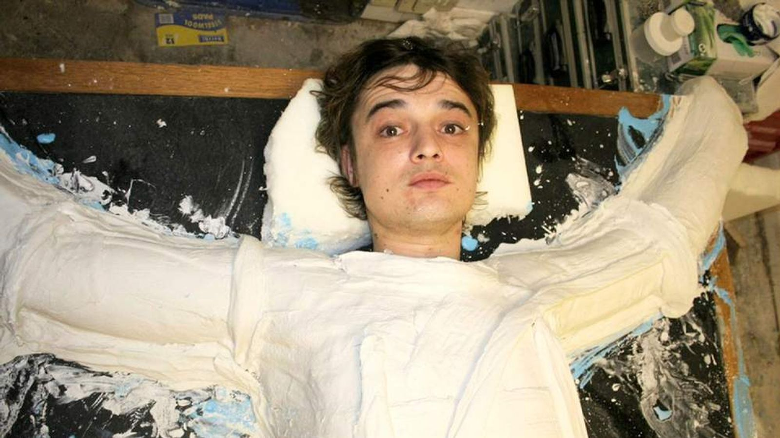 Pete Doherty Involved In Making Of Sculpture 'Crucified In The Media'