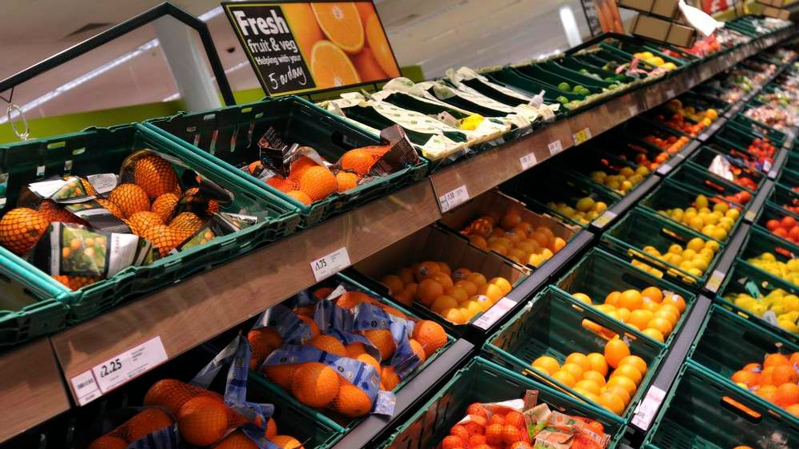 Fruit for sale in a Tesco store
