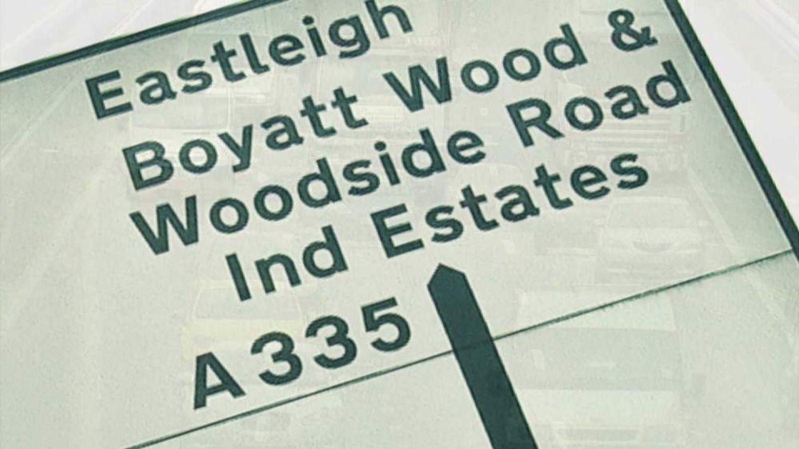 Eastleigh sign