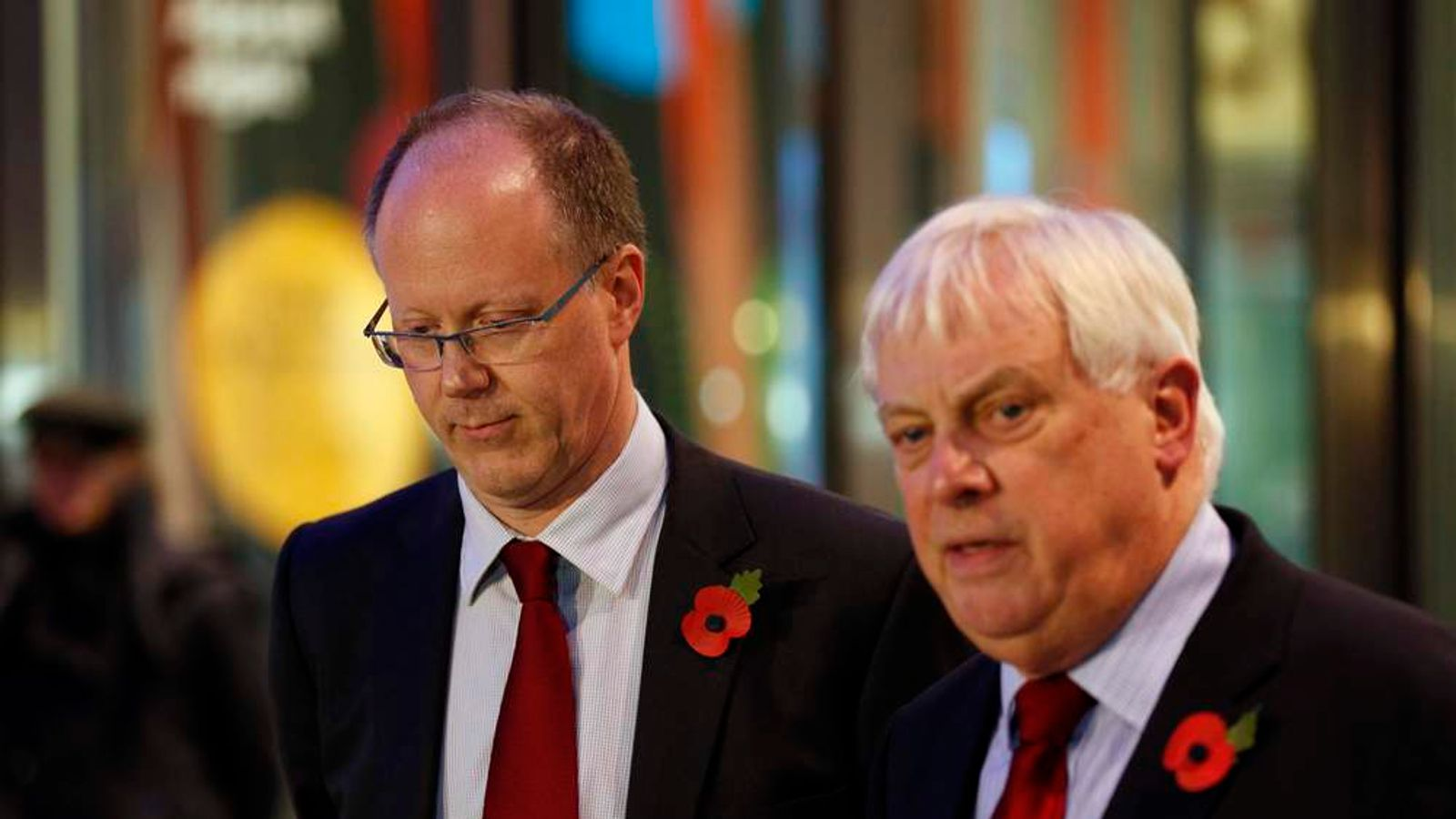 BBC director general George Entwistle and Chairman of the BBC Trust Lord Patten