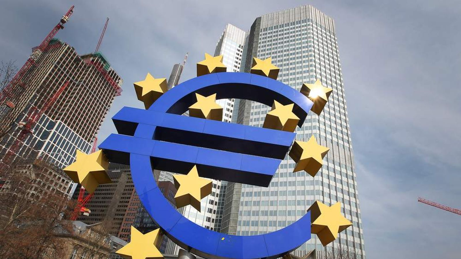 Euro Symbol Outside European Central Bank