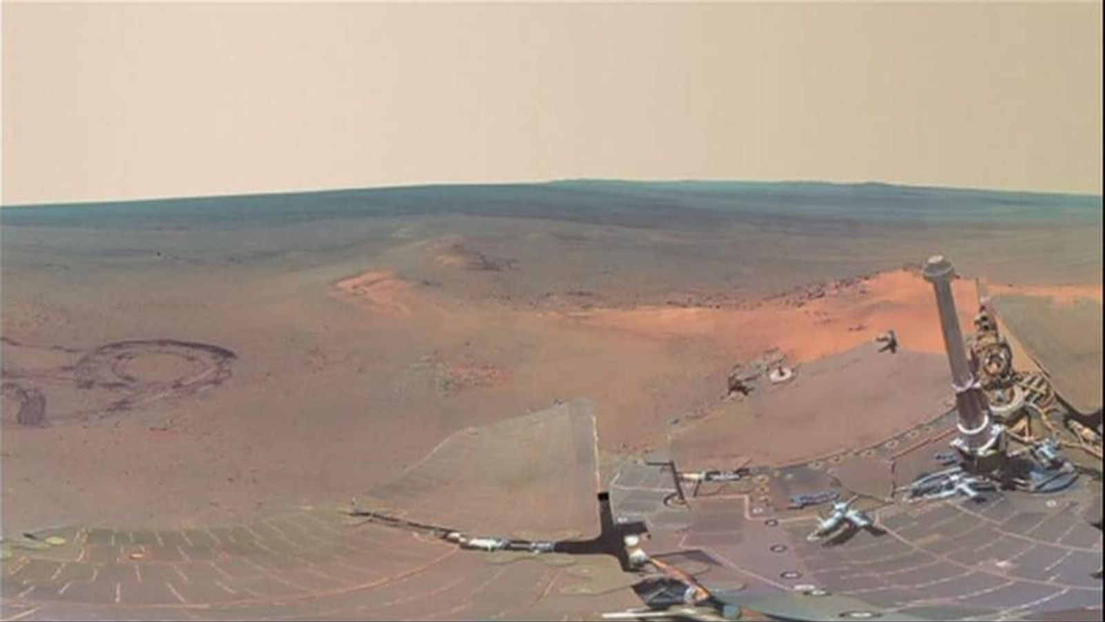 The images released by Nasa were taken by the Mars Exploration Rover, Opportunity.