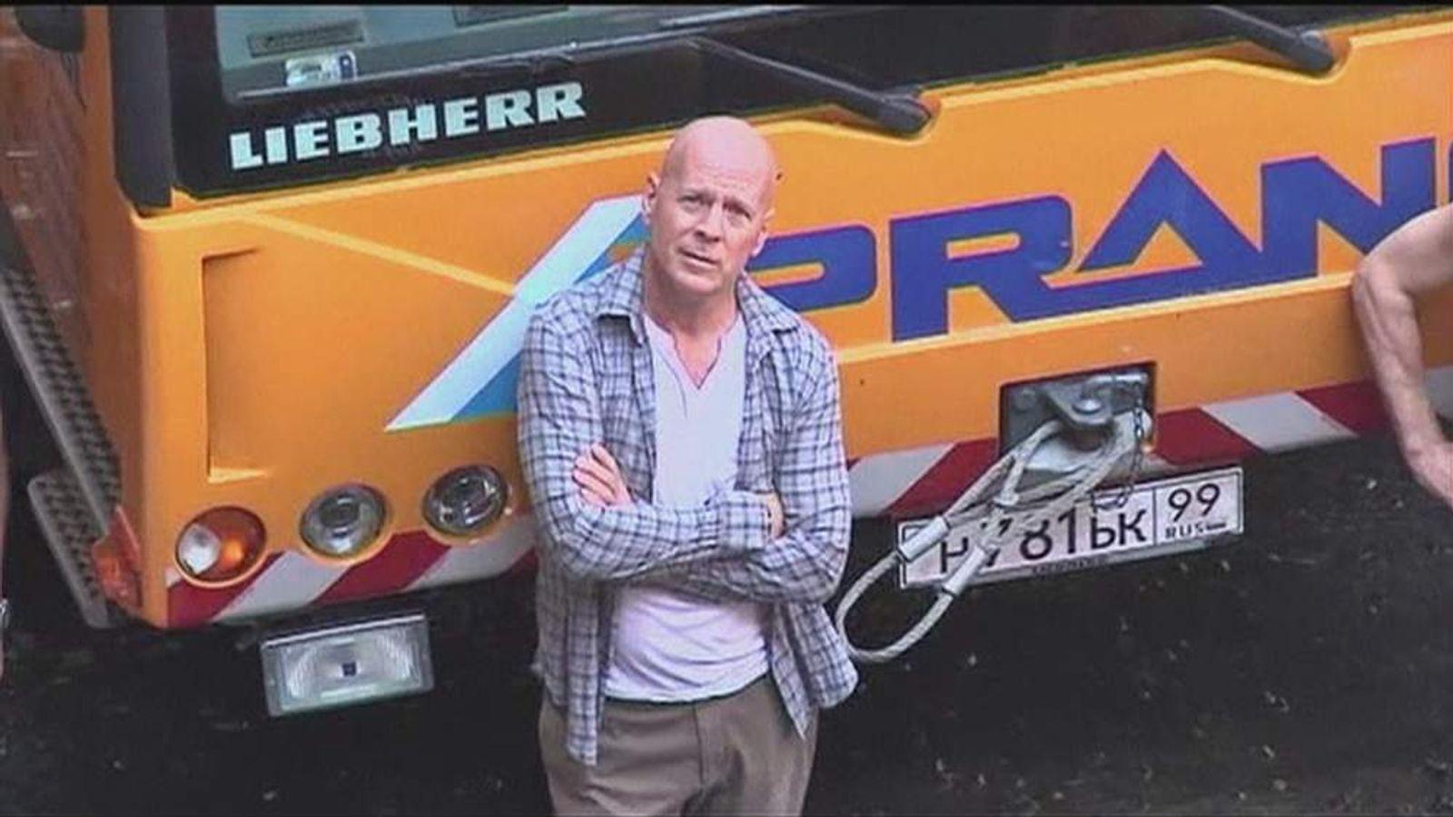 Bruce Willis On Set Of Die Hard 5 Film In Hungary