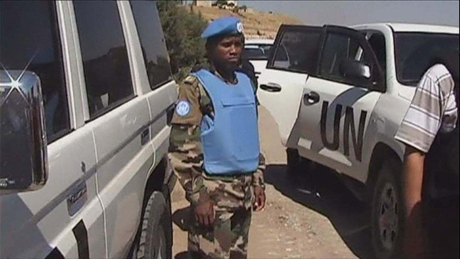 A UN monitor in Syria
