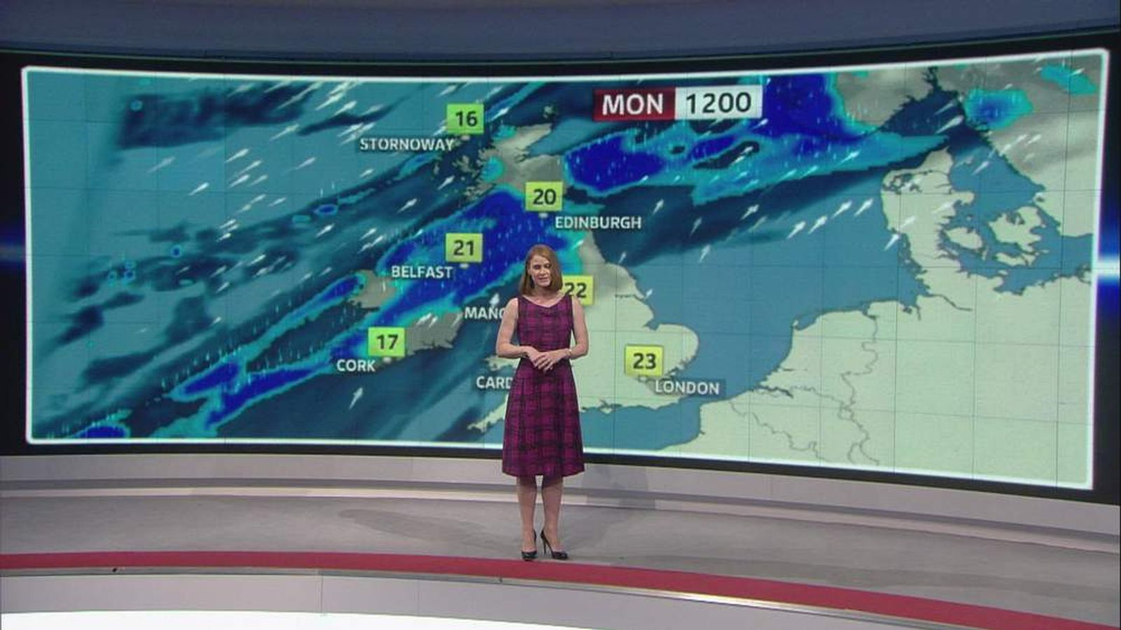 Sky News weather presenter Isobel Lang