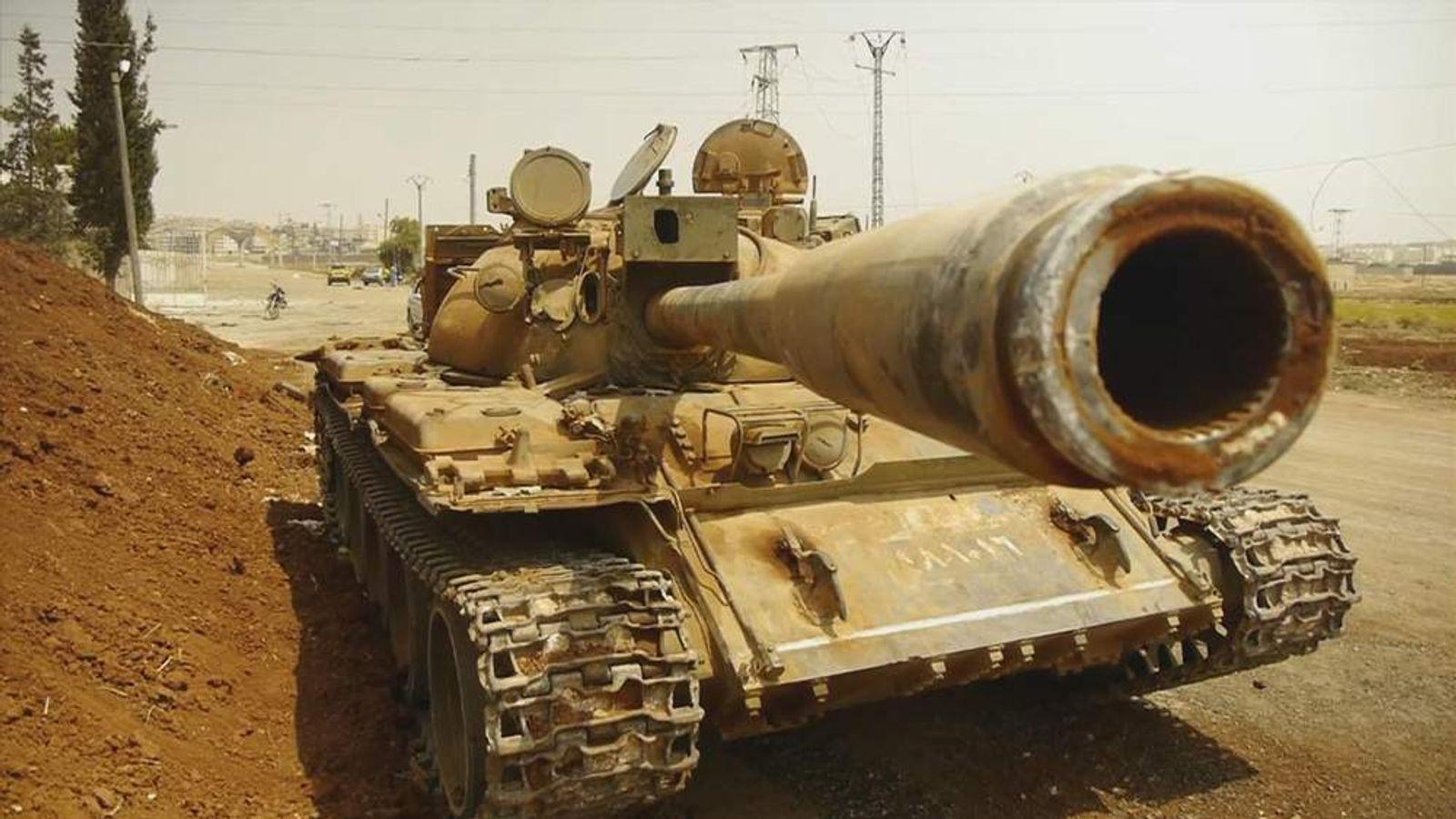Syrian Tank near Aleppo in Syria