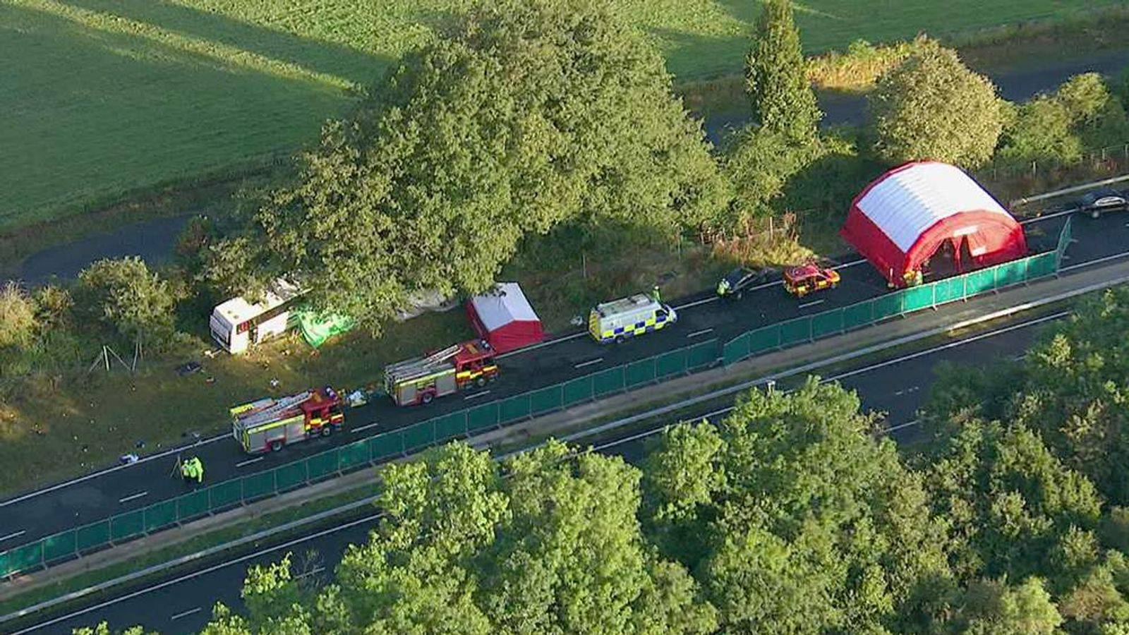 Three people have been killed and others seriously injured in a coach crash in Surrey.