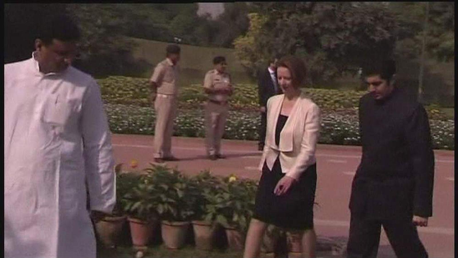 Julia Gillard Trip in India