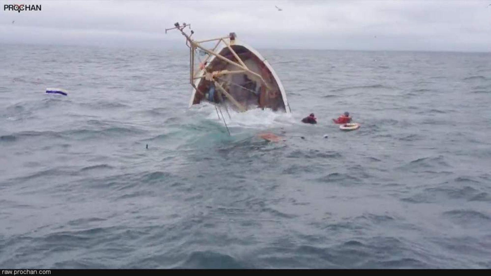 Irish Boat Sinking Two Rescued