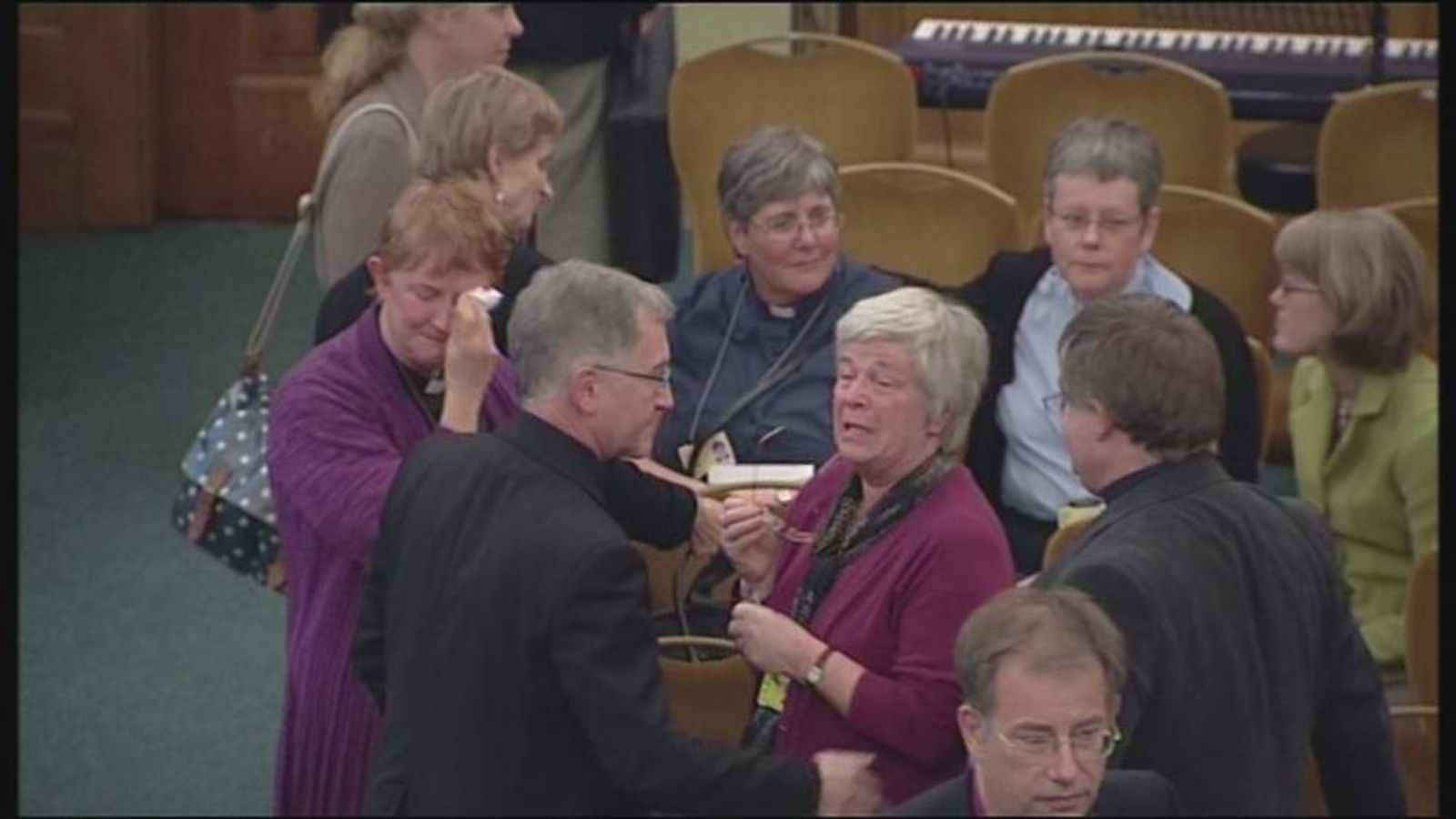 Female vicars in tears after the decision was announced