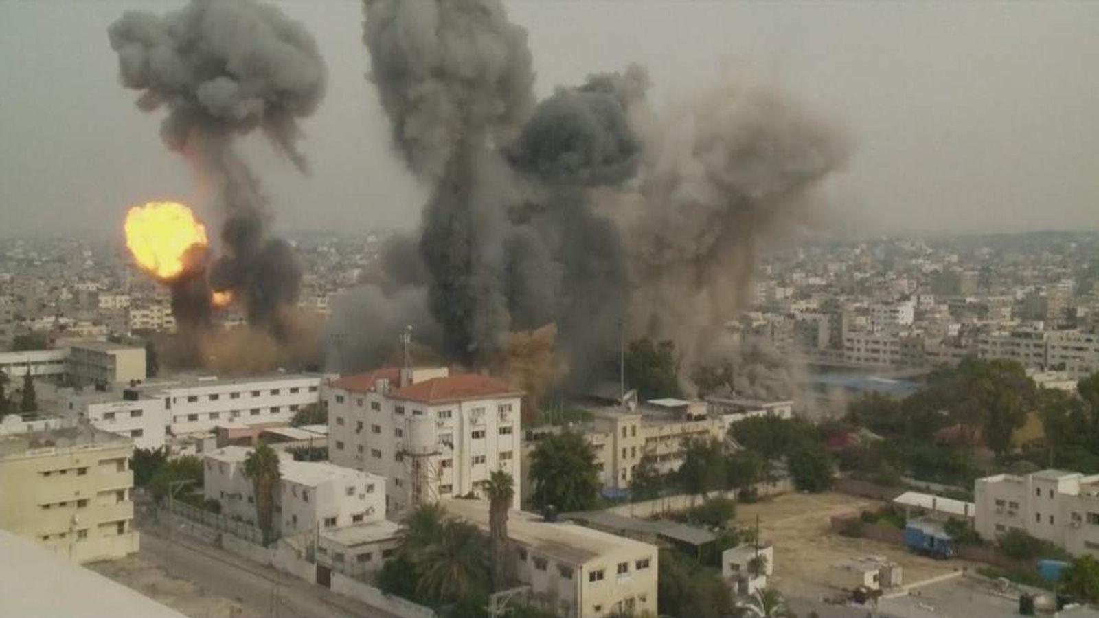 Explosions in Gaza