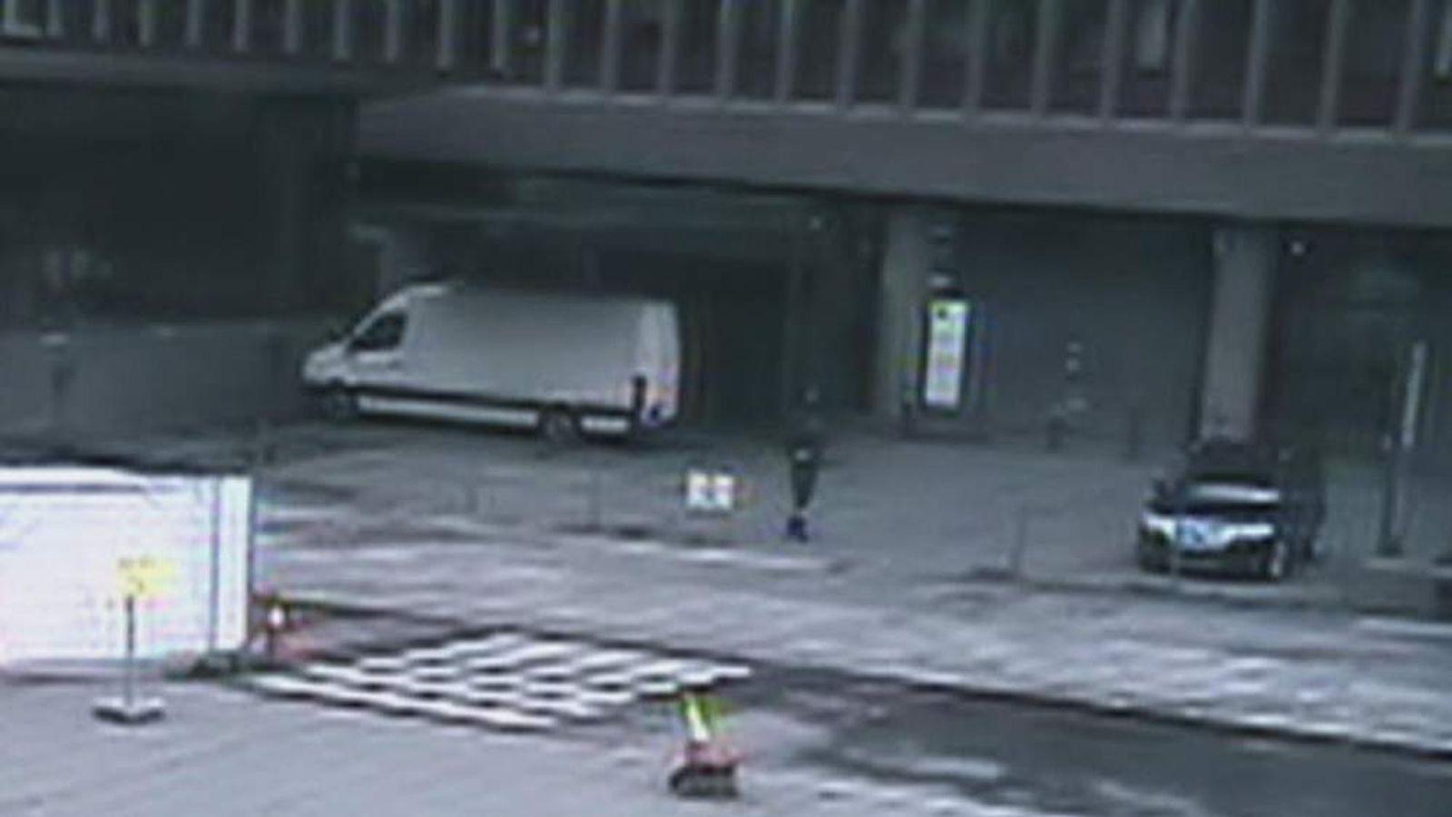 Anders Breivik caught on CCTV in Oslo